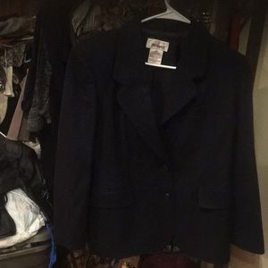 Women's navy blazer by worthington size 8 petite